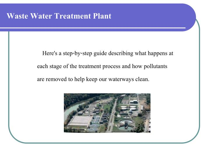 Waste water treatment plant1