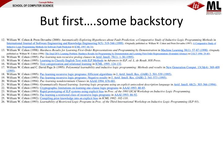 But first….some backstory