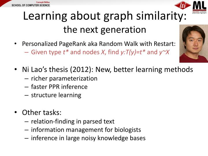 Learning about graph similarity: