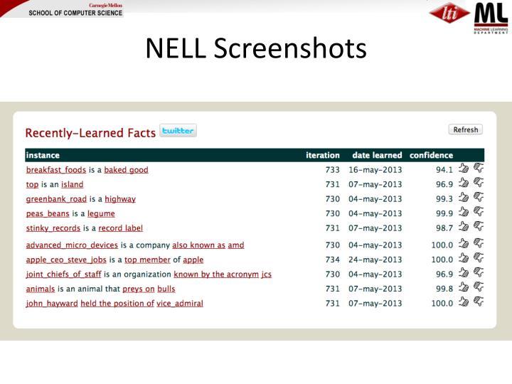 NELL Screenshots