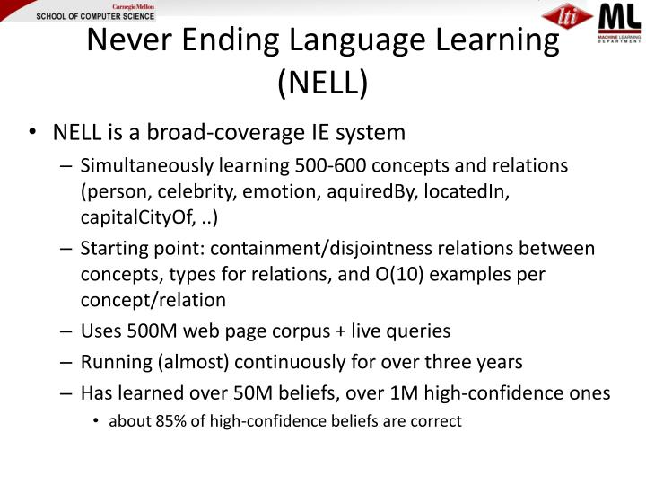 Never Ending Language Learning (NELL)