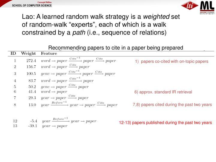 Lao: A learned random walk strategy is a