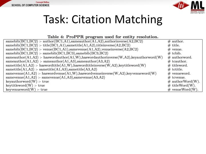 Task: Citation Matching