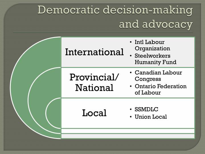 Democratic decision-making