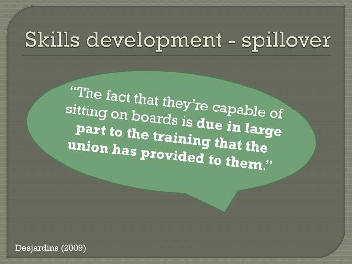 Skills development - spillover