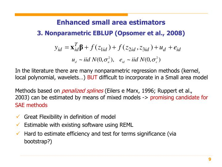 Enhanced small area estimators