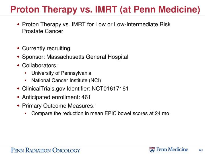 Proton Therapy vs. IMRT (at Penn Medicine)