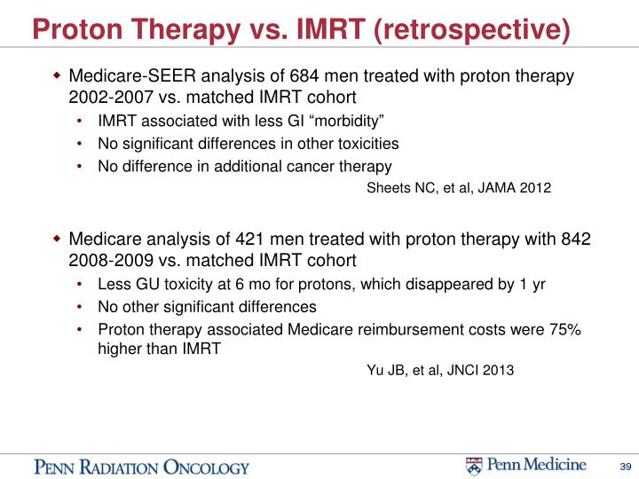 Proton Therapy vs. IMRT (retrospective)