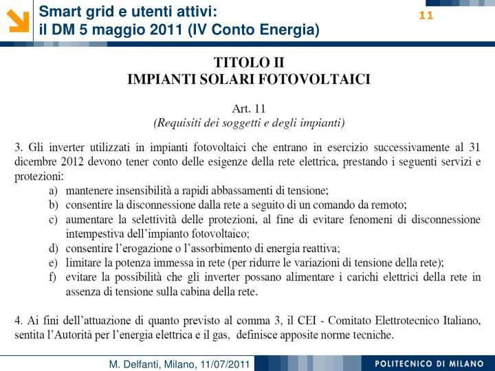 Smart grid e utenti attivi: