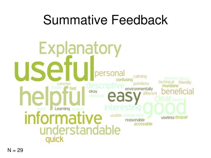 Summative Feedback