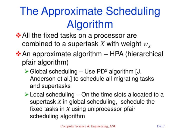 The Approximate Scheduling Algorithm