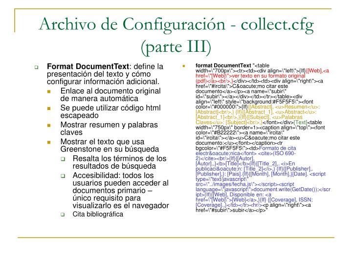 Format DocumentText