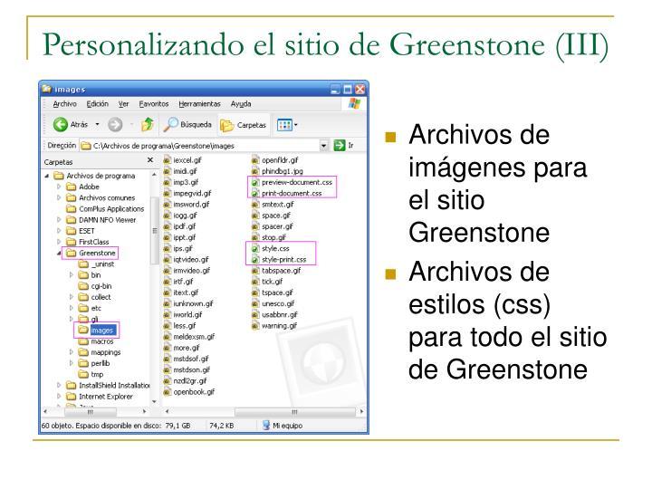 Personalizando el sitio de Greenstone (III)