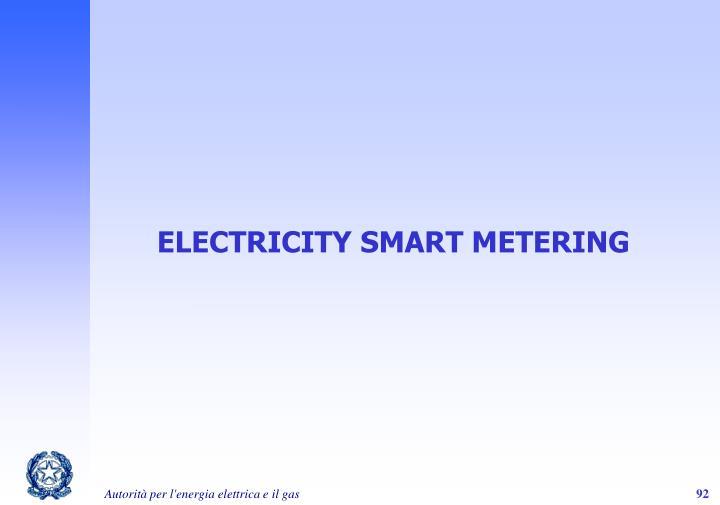 ELECTRICITY SMART METERING