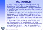 gas objectives