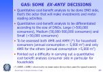 gas some ex ante decisions