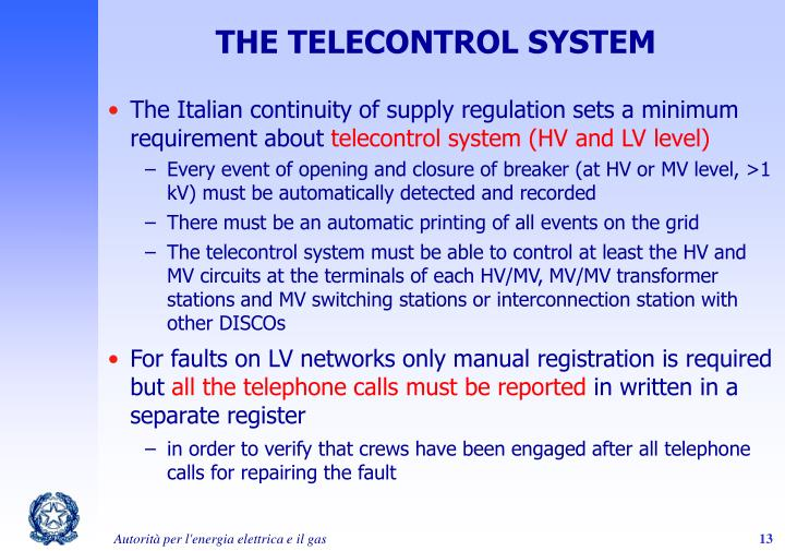 THE TELECONTROL SYSTEM