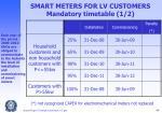 smart meters for lv customers mandatory timetable 1 2