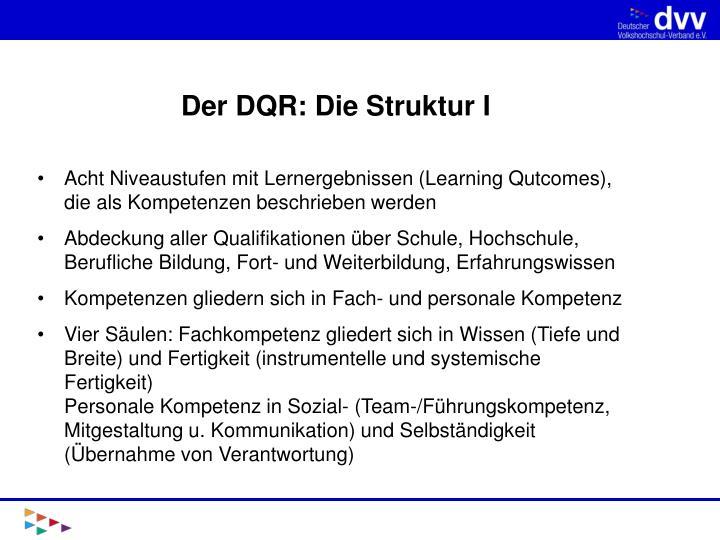 Der DQR: Die Struktur I