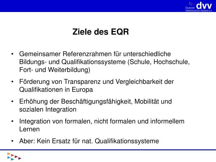Ziele des EQR