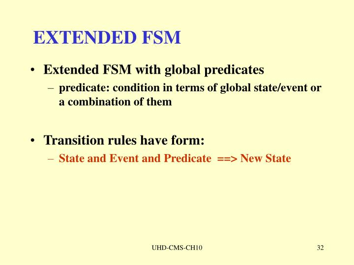 EXTENDED FSM