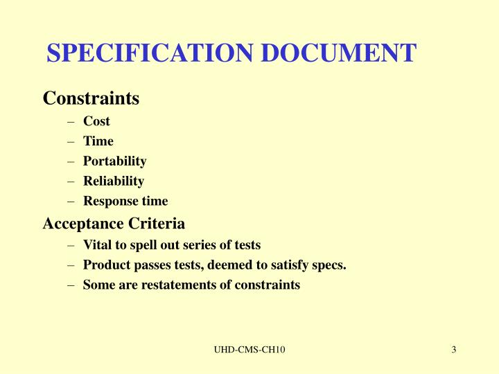 Specification document1