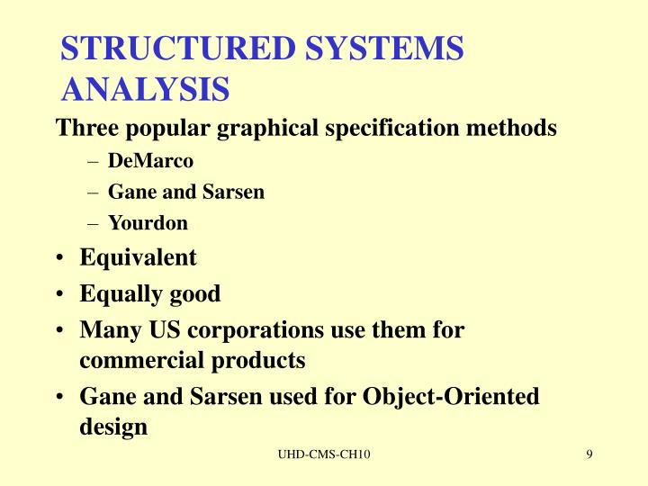 STRUCTURED SYSTEMS ANALYSIS