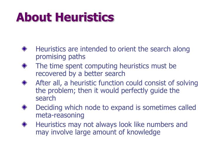 About Heuristics