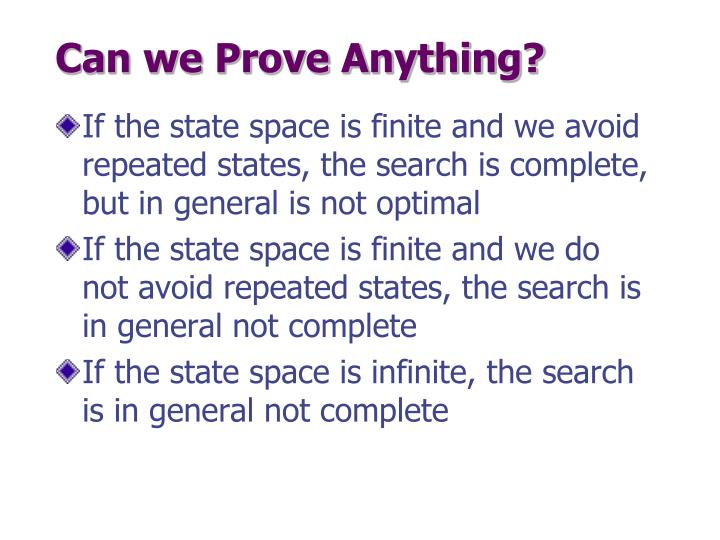 Can we Prove Anything?