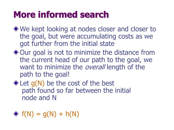 More informed search
