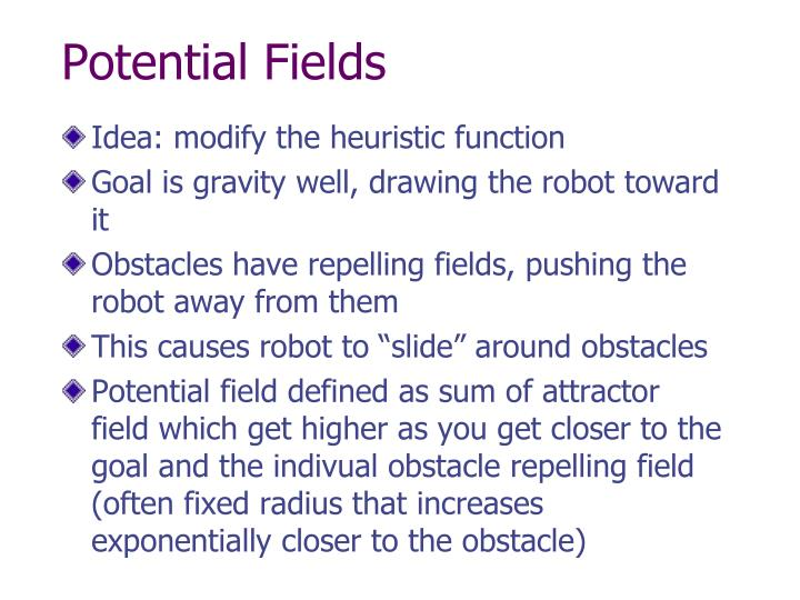 Potential Fields