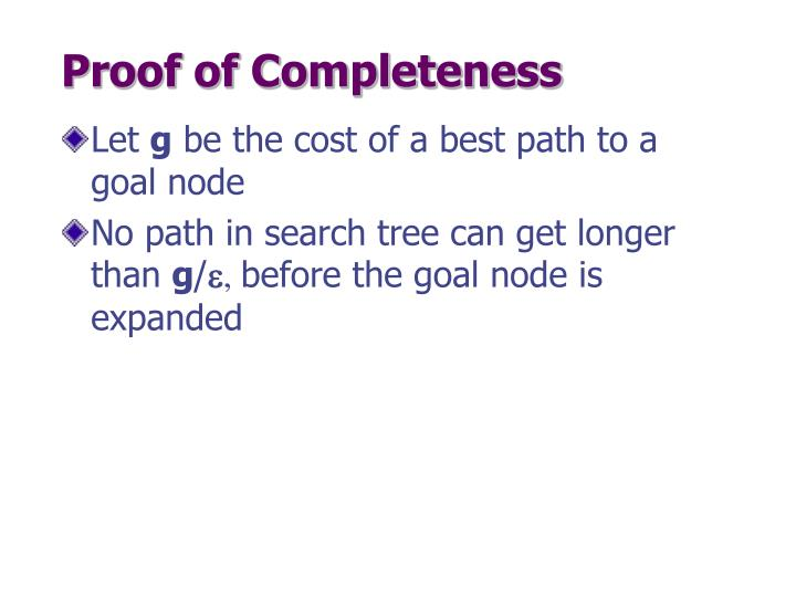 Proof of Completeness
