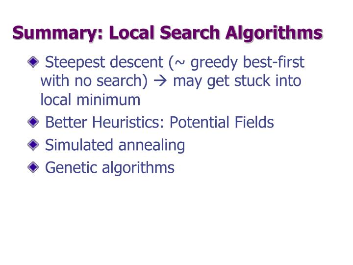 Summary: Local Search Algorithms