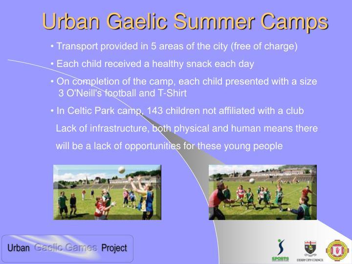 Urban Gaelic Summer Camps
