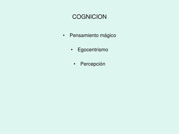 COGNICION