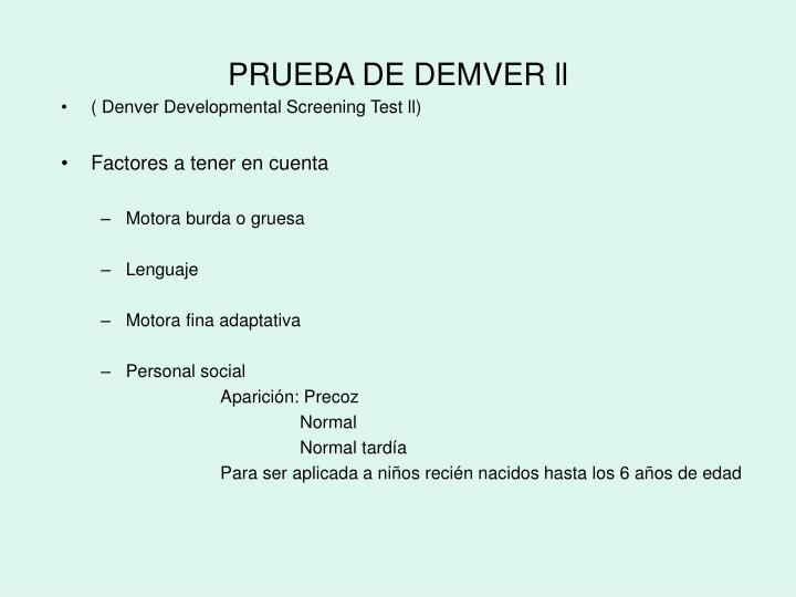 PRUEBA DE DEMVER ll
