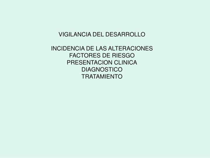 VIGILANCIA DEL DESARROLLO