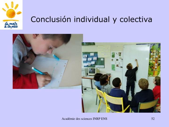 Conclusión individual y colectiva