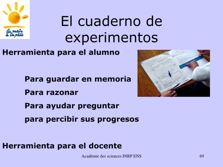 El cuaderno de experimentos