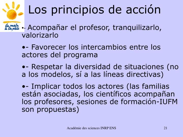 Los principios de acci