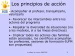 los principios de acci n