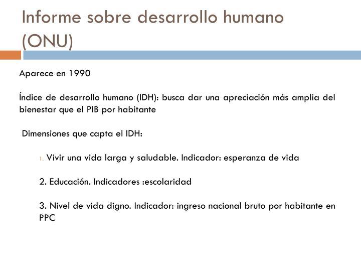 Informe sobre desarrollo humano (ONU)