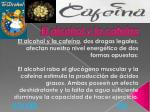 el alcohol y la cafe na