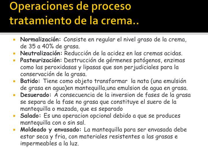 Operaciones de proceso