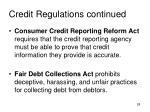 credit regulations continued1
