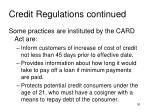 credit regulations continued3