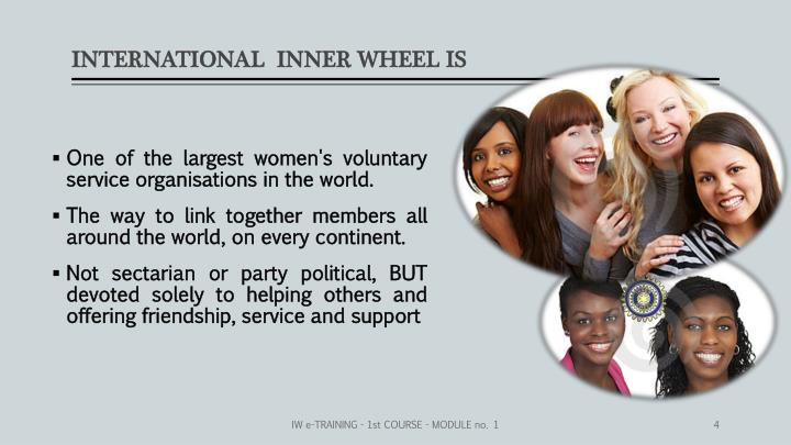 INTERNATIONAL  INNER WHEEL IS