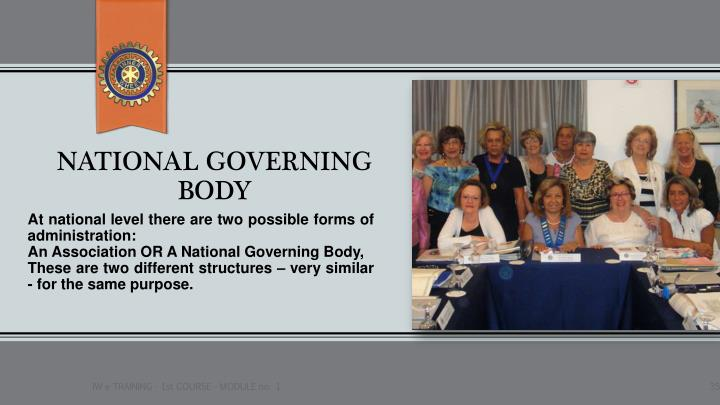 NATIONAL GOVERNING BODY