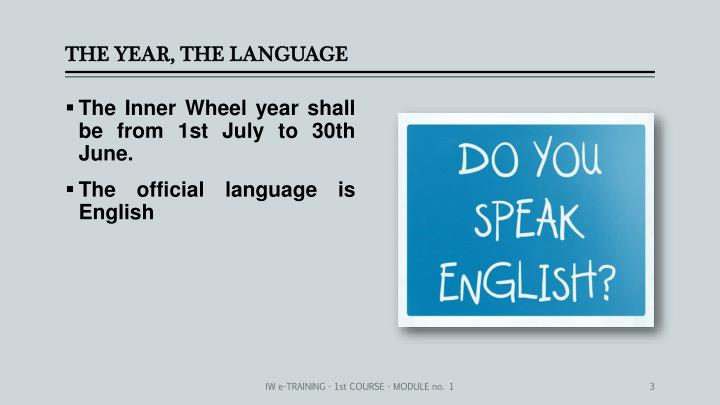 The year the language