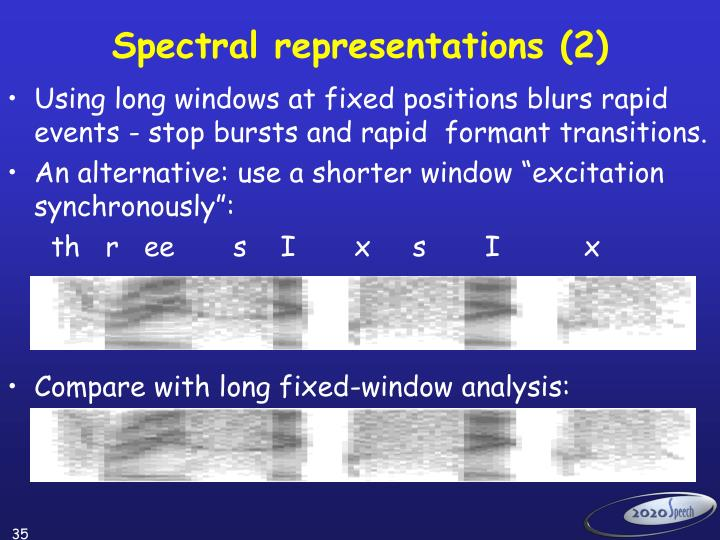 Spectral representations (2)